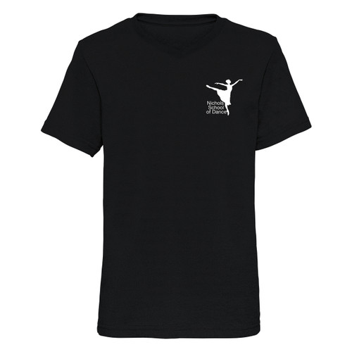 SONYA NICHOLS SCHOOL OF DANCE BRANDED 'V' NECK T-SHIRT