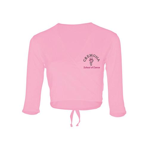 Cremona School of Dance Branded Pink Cotton Ballet Wrap