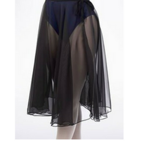 HORSHAM SCHOOL OF DANCE BLACK CHIFFON WRAP SKIRT