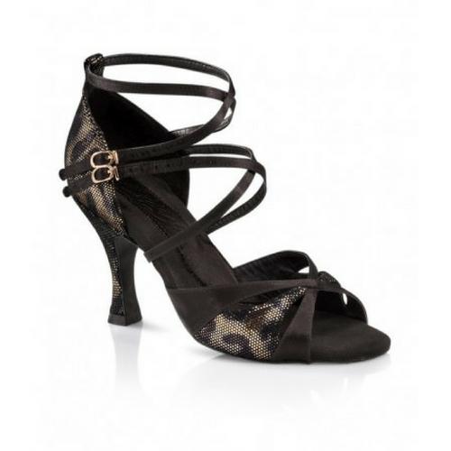 "Capezio Leah Ballroom Shoe Black With 3"" Heel"