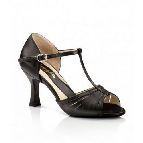 "Capezio Alandra Ballroom Shoe Black With 2.5"" Heel"