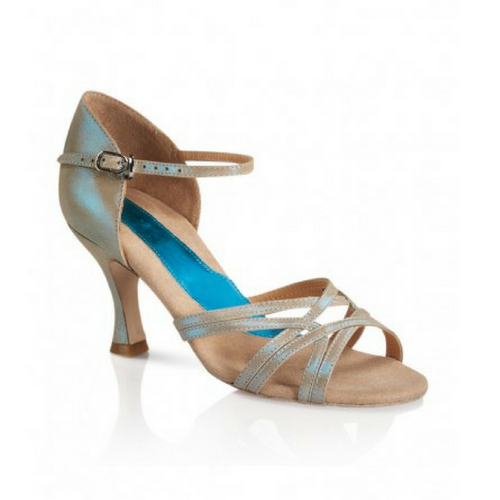 "Capezio Katusha Ballroom Shoe Ice Blue With 2.5"" Heel"