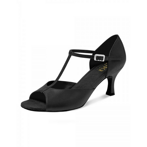 "Bloch Illeana Leather Ballroom Shoe With 2.5"" Flare Heel In Black"