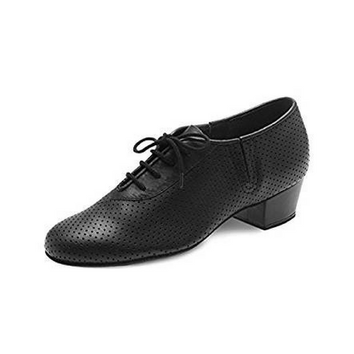 Bloch Practice Shoe Leather Ballroom Shoe Wide Heel In Black