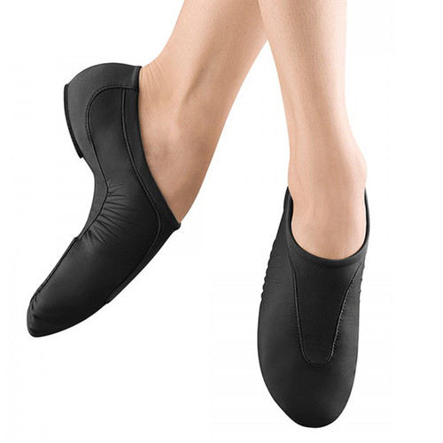 Bloch Pulse Leather Jazz Shoe With Suede Slip on Split Sole