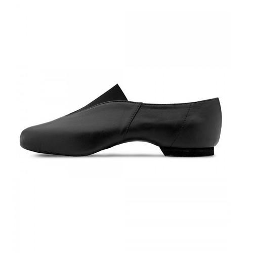 Bloch Pure Jazz Leather Jazz Shoe with Rubber Split Sole Black