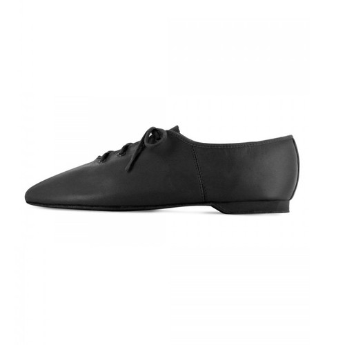 Bloch Essentials Leather Jazz Shoe Full Rubber Sole Black