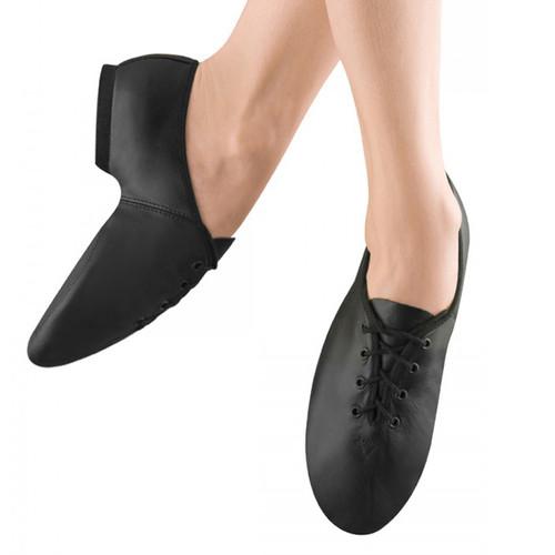 Bloch Ultra Flex Leather Split Sole Lace Up Jazz Shoe With Rubber Sole