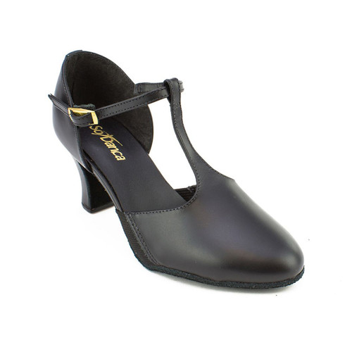 So Danca Leather T Bar Suede Sole Character Shoe