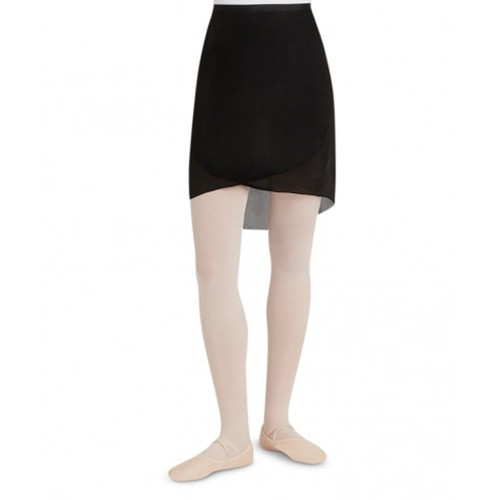 CAPEZIO GEORGETTE LONG WRAP TIE SKIRT