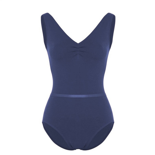Capezio Pinch Front Tank Leotard With Belt