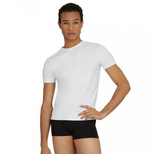 Capezio Mens Fitted Tactel Crew Neck Top