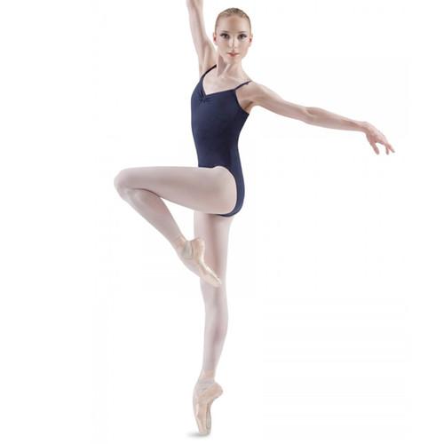 Susan Robinson School of Ballet  Navy Pinch Front Back Cami Leotard