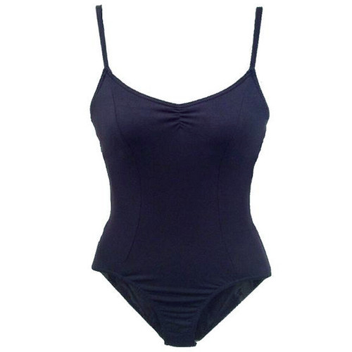 Susan Robinson Navy Arpeggio Seamed Camisole With Pinched front Leotard
