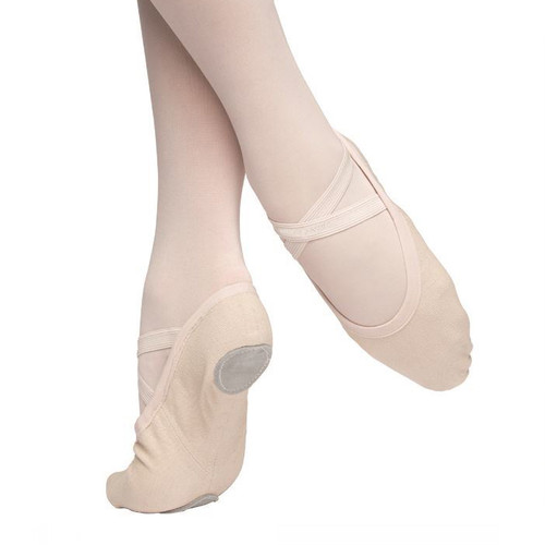 FLIPSIDE PINK CANVAS BALLET SHOES
