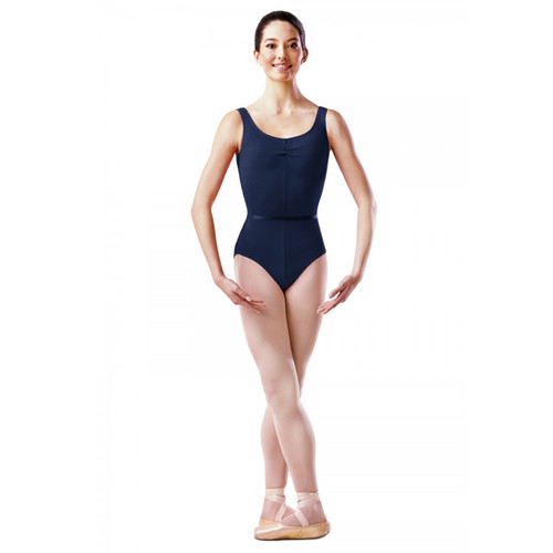 THE PERFORMANCE ACADEMY NAVY COTTON LYCRA TANK LEOTARD