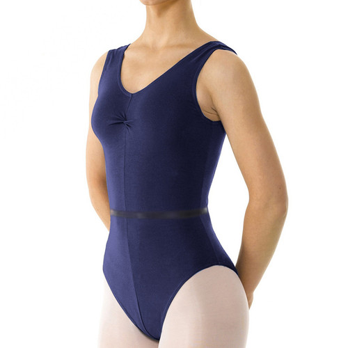 The Performance Academy Navy Cotton Lycra Tank Leotards