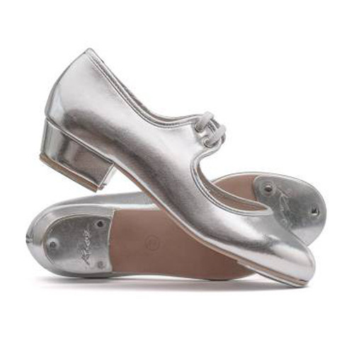 The Performance Academy Silver Low Heel PU Tap Shoe