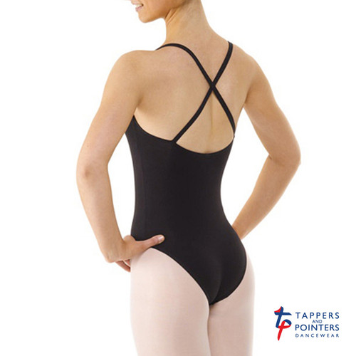 Tappers & Pointers COT/6 Camisole Leotard Ruched Front Crossover Straps Jr