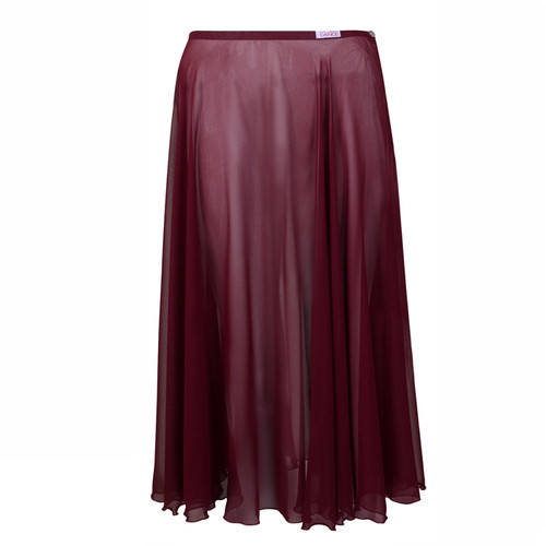 KARSD Burgundy Long Circular Chiffon Skirt
