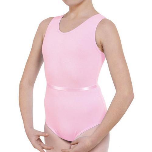 Molesey School of Ballet Pink Tank Leotard With Belt