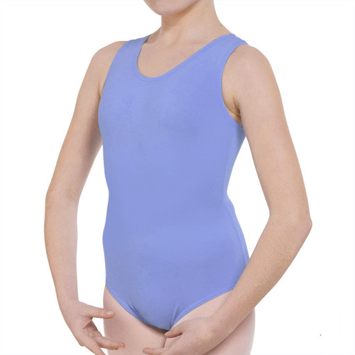 MOLESEY SCHOOL OF BALLET SKY BLUE STD TANK LEOTARD WITH BELT
