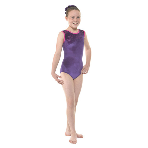 TAPPERS & POINTERS GYM/27 VELVET AND FOIL LEOTARD Jr