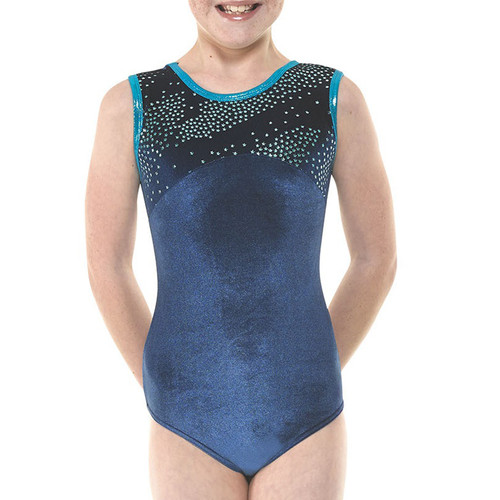 TAPPERS & POINTERS GYM/27 VELVET AND FOIL LEOTARD
