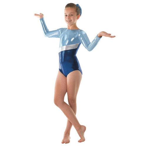 TAPPERS & POINTERS GYM/10 SHINE BLOCKS LEOTARD Jr