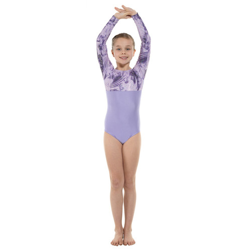 TAPPERS & POINTERS GYM/8 LYCRA AND FOIL LEOTARD Jr