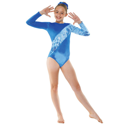 TAPPERS & POINTERS GYM/7 SMOOTH VELVET AND FOIL LEOTARD Jr