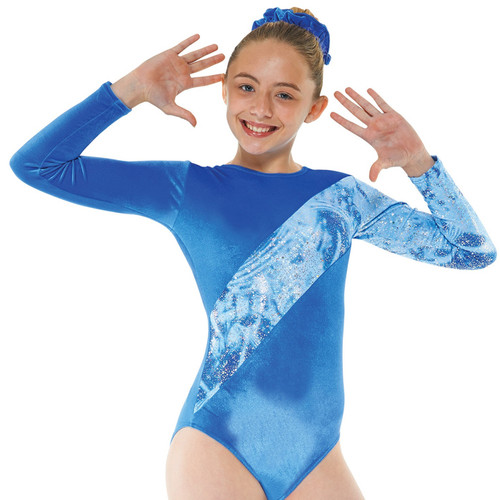 TAPPERS & POINTERS GYM/7 SMOOTH VLEVET AND FOIL LEOTARD