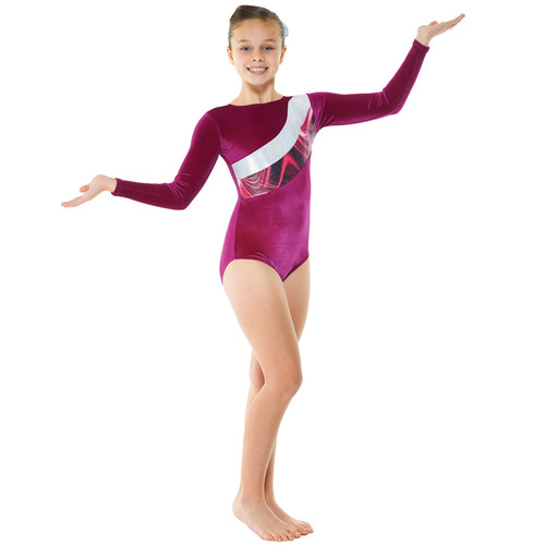 TAPPERS & POINTERS GYM/21 SMOOTH VELVET AND SOLARIS PRINT LEOTARD Jr