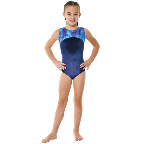 TAPPERS & POINTERS GYM/22 SMOOTH VLEVET AND GALAXY PRINT LEOTARD Jr