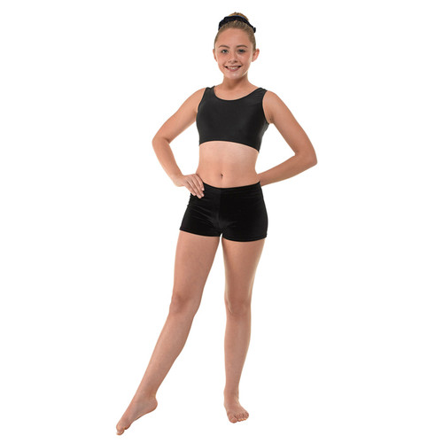TAPPERS & POINTERS VELOUR MICRO GYM SHORTS Jr