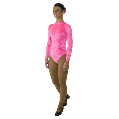 TAPPERS & POINTERS TURTLE NECK LONG SLEEVED LEOTARD WITH KEYHOLE BACK Jr