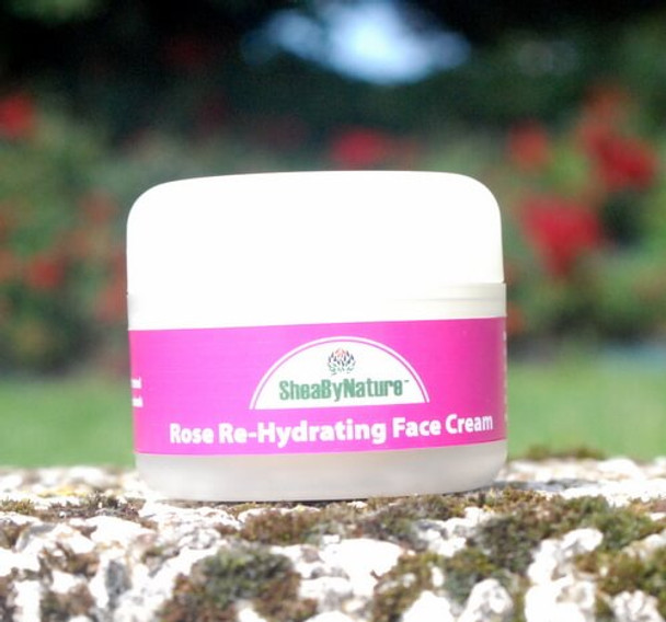 Rose Re-Hydration Face Cream with Shea Butter, Vegan Collagen, Rose Oil and Antioxidants (60ml)