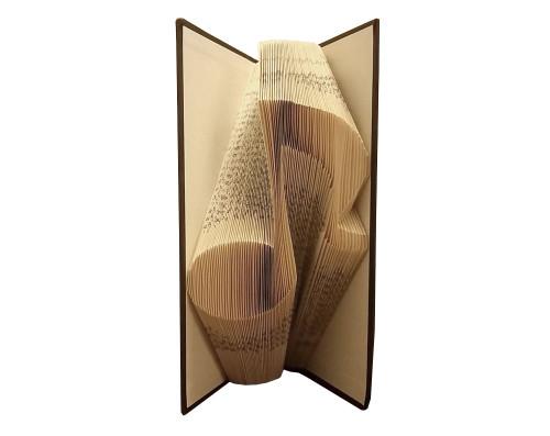 A music note folded book design