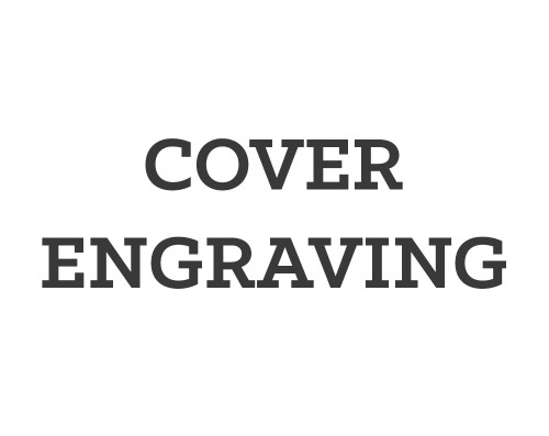 Cover engraving service to add to an order