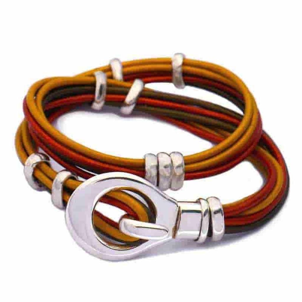 Scoop Leather Wrap Bracelet