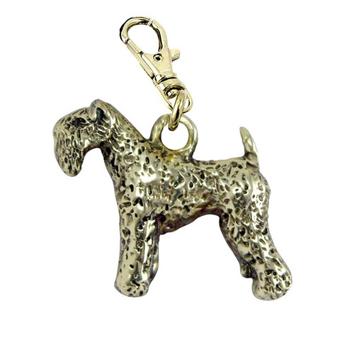 Kerry Blue Terrier Brass Zipper Pull