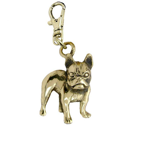 French Bull Dog Brass Zipper Pull