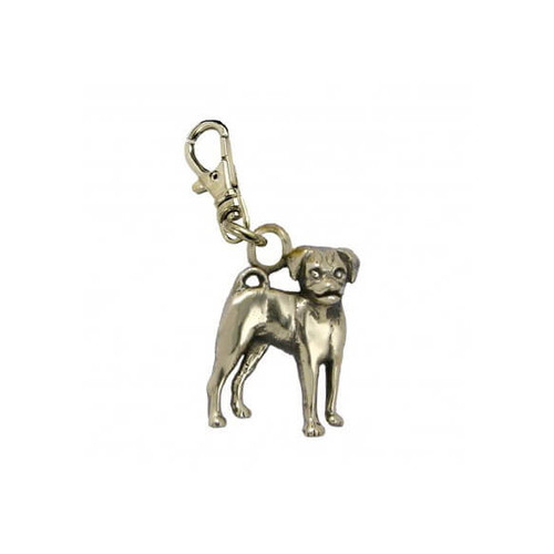 Puggle Brass Zipper Pull
