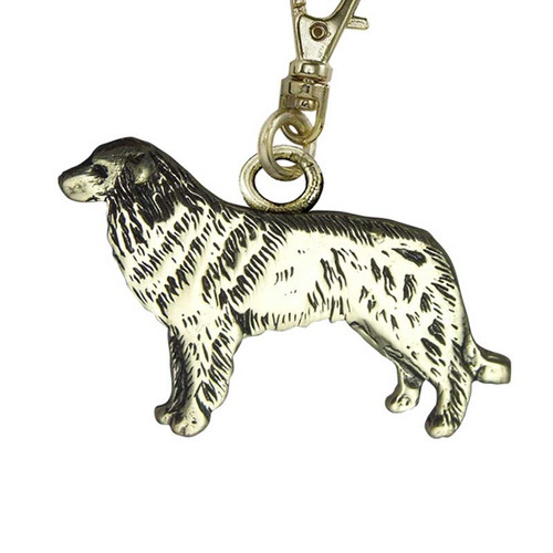 Greater Swiss Mountain Dog Brass Zipper Pull