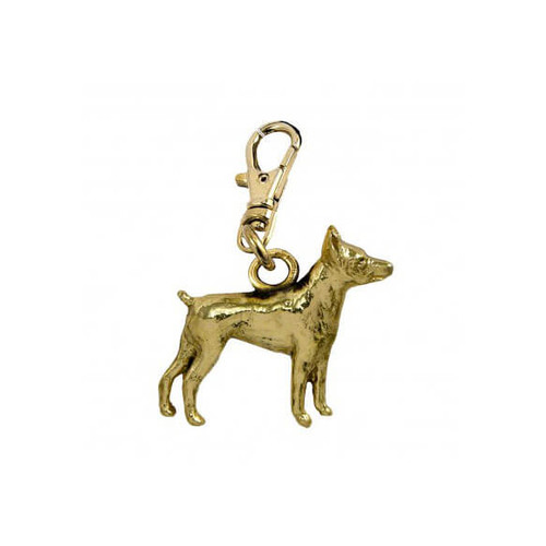Rat Terrier Brass Zipper Pull