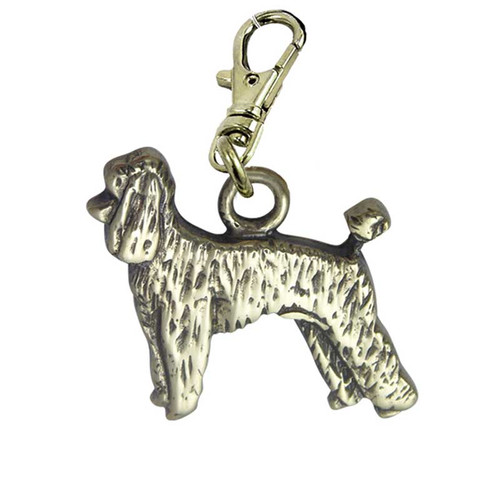 Poodle Puppy Zipper Pull Brass
