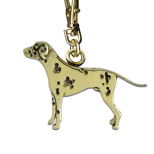 Dalmatian Zipper Pull Brass