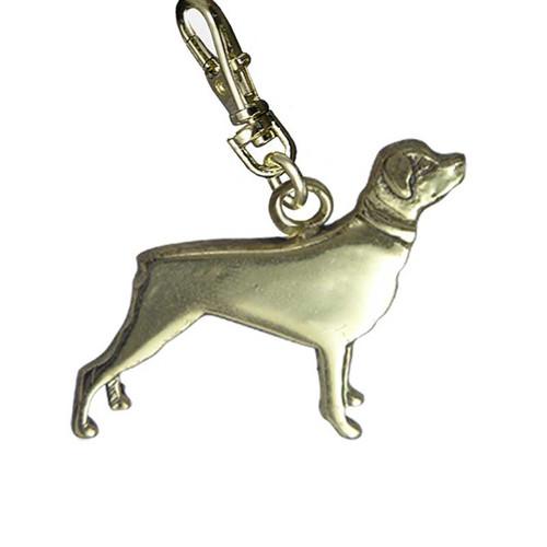 Rottweiler Zipper Pull Brass