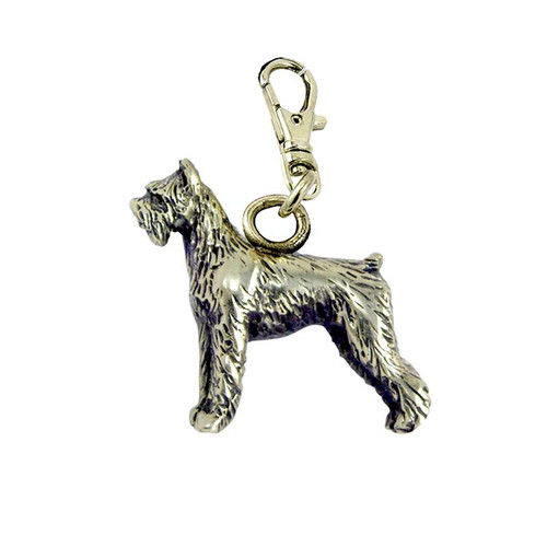 Schnauzer Brass Zipper Pull Giant