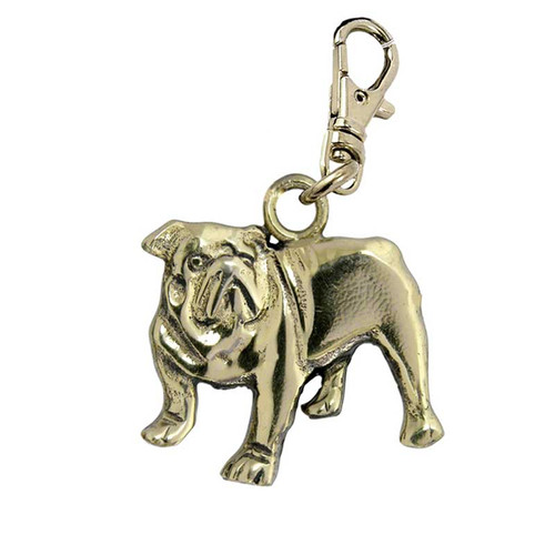 Bull Dog Brass Zipper Pull
